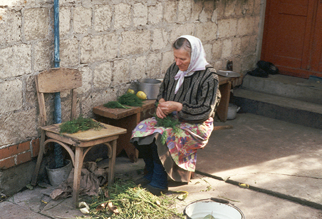 Katya with Herbs